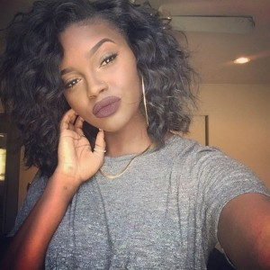 【Wigs】360 Lace Frontal Wigs Brazilian Hair Curly Bob Wig Natural Color