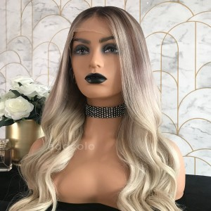 Beverly Virgin Hair Full Lace Wigs Balayage
