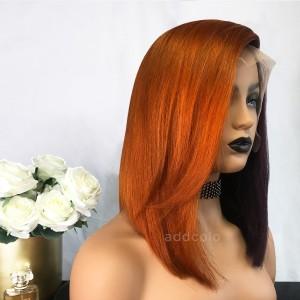 Brenda Virgin Hair Lace Front Wigs Orange & Grape Purple