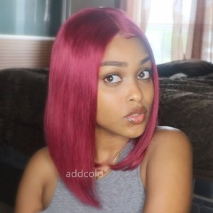 Burgundy Wigs Bob Straight & Wavy 2020 Best Fashion Summer Colorful Lace Front Wigs