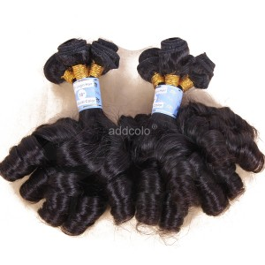 【Addcolo 8A】Hair Weave Indian Hair Bouncy Curly