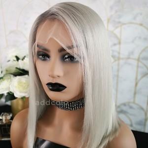 Felicia Virgin Hair Full Lace Wigs T1B/Gray