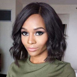 【Wigs】Lace Front Wigs Brazilian Hair Bob Wig Natural Color