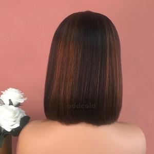 Heidi Virgin Hair Lace Front Wigs #1B/30 Balayage