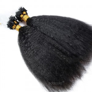 【Addcolo 10A】Micro Loop Hair Extensions Brazilian Hair Natural Black Color