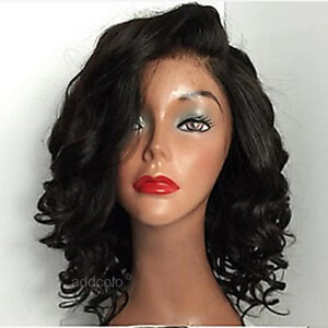 Human Hair Wigs For Black Women Glueless Curly Lace Wigs with Side Part 8-26inch
