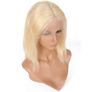 #613 Blonde Human Hair Wigs Instock Bob Wavy Blonde 13*6 Lace Front Wigs