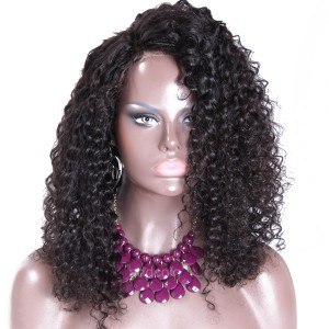 Silk Base Wigs 150% Density Curly Human Hair Wigs For Black Women