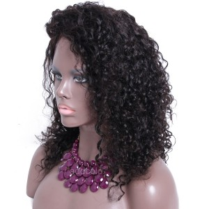 Tight Curly Silk Base Wigs 150% Heavy Density Human Hair Wigs For Black Women