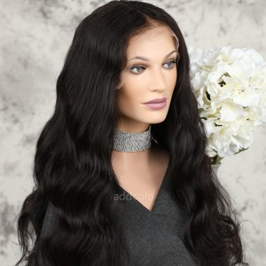 Human Hair Full Lace Wigs Natural Color Brazilian Hair Loose Body Wave Wig