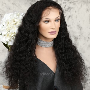 Human Hair 360 Lace Frontal Wig Natural Color Brazilian Hair Loose Curly Wig