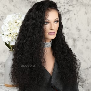 Silk Top Wigs 180% Heavy Density Loose Curly Free Part Glueless Human Hair Wigs