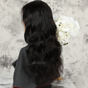 Loose Wave Human Hair Half Wigs Natural Color Brazilian Hair Machine Made Wigs
