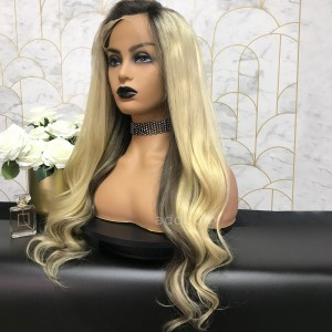 Nicole Remy Hair Lace Front Wigs Balayage