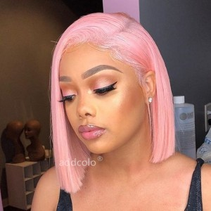 Pink Lace Front Wigs Bob Straight & Wavy 2019 Summer Colorful Trendy Wigs
