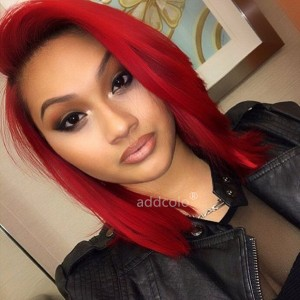 Red Wigs Bob Straight & Wavy 2019 Summer Best Fashion Colorful Lace Front Wigs