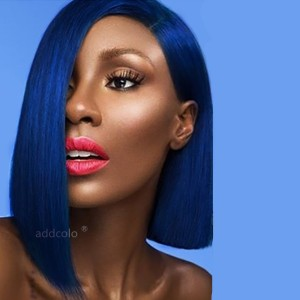 Royal Blue Wigs Bob Straight & Wavy 2020 Summer Best Fashion Colorful Lace Front Wigs