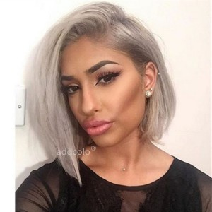 Silver Grey Wigs Bob Straight & Wavy 2020 Summer Best Fashion Colorful Lace Front Wigs