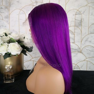 Simone Remy Hair Lace Front Wigs Bright Purple