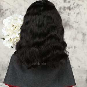 Loose Wavy Bob Human Hair Half Wigs Natural Color Brazilian Hair Machine Made Wigs