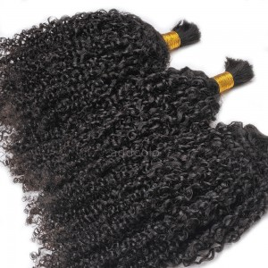 【Addcolo 8A】Bulk Human Hair for Braiding Tight Curly Brazilian Hair