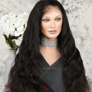 Human Hair Full Lace Wig Natural Hairline Indian Hair Body Wave Wig