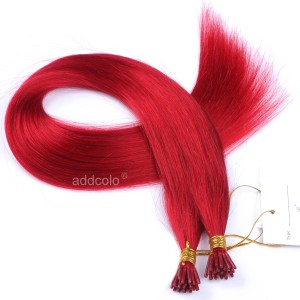 【Addcolo 10A】I Tip Hair Extensions Peruvian Hair Color #Red
