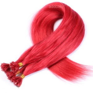 【Addcolo 10A】U Tip Hair Extensions Brazilian Hair Color #Red