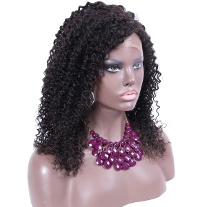 【Wigs】360 Lace Frontal Wig Brazilian Hair Afro Kinky Curly Wig Natural Color
