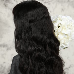 Loose Body Wave Human Hair Half Wigs Brazilian Hair Natural Color Machine Made Wigs