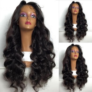 Human Hair 360 Lace Frontal Wigs Natural Color Brazilian Hair Loose Wave Wig