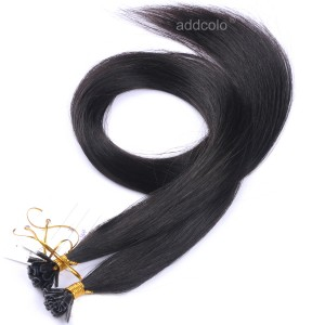 【Addcolo 10A】U Tip Hair Extensions Malaysian Hair Color #1B