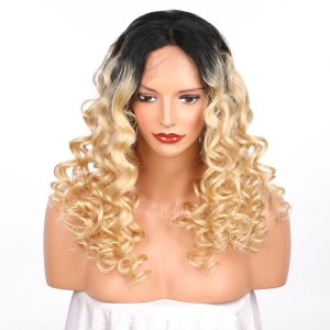 【Clearance】10A Human Virgin Hair Lace Front Wig Ombre Color #1b/#613 Loose Wave Human Hair Wig