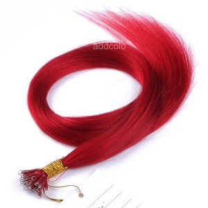【Addcolo 10A】Nano Hair Extensions Malaysian Hair #Red Color