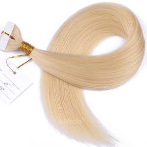【Addcolo 10A】Tape In Hair Extensions Malaysian Hair Color #613