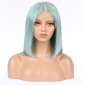 Mint Green Lace Front Wigs Bob Straight & Wavy 2019 Summer Colorful Trendy Wigs