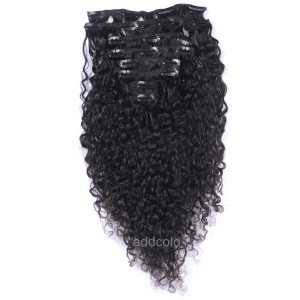 【Addcolo 8A】Clip-In Hair Extensions Brazilian Hair Curly