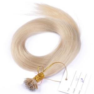 【Addcolo 10A】Nano Hair Extensions Brazilian Hair Color #60