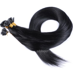 【Addcolo 10A】U Tip Hair Extensions Brazilian Hair Color #1