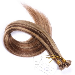 【Addcolo 10A】U Tip Hair Extensions 100% Human Hair #6/#27 Highlight Color