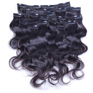 【Addcolo 8A】Clip-In Hair Extensions Brazilian Hair Body Wave