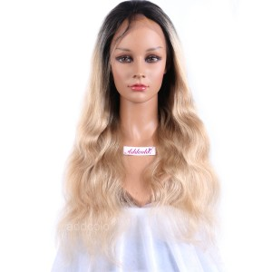 【Wigs】Lace Front & Full Lace Wig Malaysian Hair Body Wave Wig #1B/#24 Ombre Color