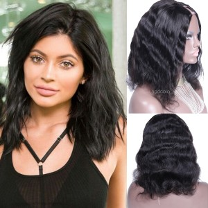 180% Heavy Density U Part Wig Human Hair Middle Part Natural Wave Upart Wigs