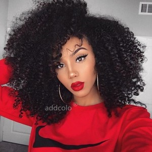 【Wigs】Human Hair Wigs for Black Women Natural hairline Afro Kinky Curly Lace Front Wig