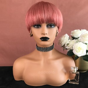 Alisa Remy Hair Lace Front Wigs Pink