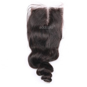 "【Closures】Hair Closure Indian Remy Human Hair Wavy 4""x4"" Closure"