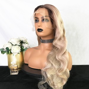 Brittany Virgin Hair Full Lace Wigs T4/Milk Tea