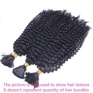【Addcolo 8A】Bulk Human Hair for Braiding Kinky Curly Brazilian Hair