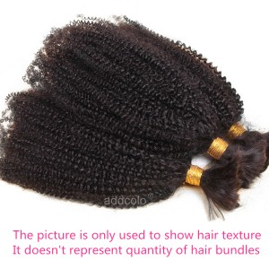【Addcolo 8A】Bulk Human Hair for Braiding Brazilian Hair Afro Kinky Curly