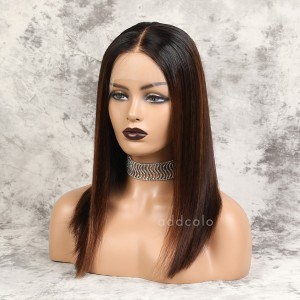 Cherisse Remy Hair Lace Front Wigs #1BT4H30 Balayage